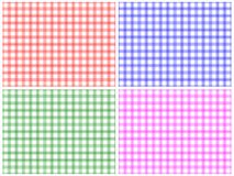 Checkered Pattern Set Stock Images