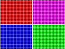 Checkered Pattern Set Royalty Free Stock Photography