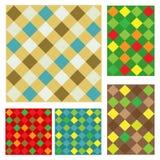 Checkered pattern set Royalty Free Stock Photo