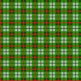 Checkered pattern of small squares seamless background, green, vector. Green squares and red thin lines on a light green field. Geometric, colored background Royalty Free Stock Photography