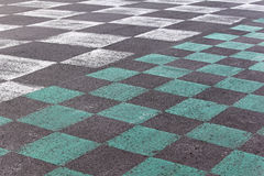 Checkered pavement Royalty Free Stock Images