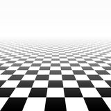 Checkered perspective background Stock Images