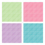 Checkered picnic cooking tablecloth seamless pattern. Vector illustration of traditional gingham background with fabric texture. Checkered picnic cooking Stock Photos