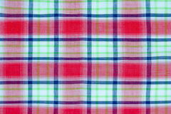Checkered picnic tablecloth Royalty Free Stock Photos