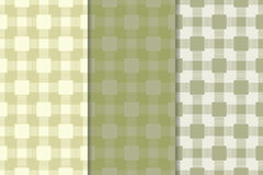 Checkered plaid fabric background. Olive green seamless pattern Stock Image
