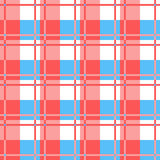 Checkered plaid fabric background. Red and blue seamless pattern Stock Photo