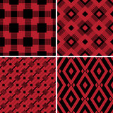 Checkered plaid fabric background. Red seamless pattern Royalty Free Stock Photos