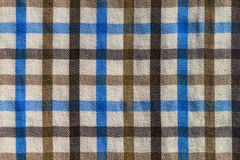 Checkered plaid textile material pattern texture Royalty Free Stock Photos