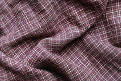 Checkered purple fabric Royalty Free Stock Image