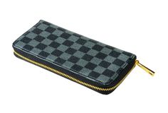 Checkered purse Royalty Free Stock Photo
