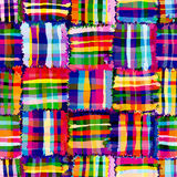 Checkered,quilt rainbow seamless pattern Stock Photos