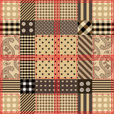 Checkered quilting design. Seamless background pattern. Will tile endlessly. Checkered quilting design Royalty Free Stock Image
