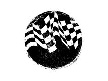 Checkered race flag grunge vector design Royalty Free Stock Images