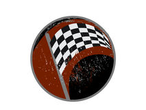 Checkered race flag grunge vector design Royalty Free Stock Image