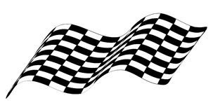 Checkered race flag isolated on white background Stock Photo