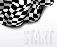 Checkered race flag Stock Image
