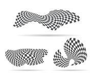 Checkered race flag vector background layout design Royalty Free Stock Photography