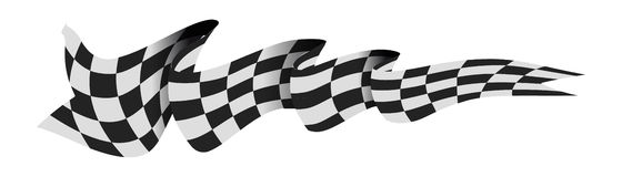 Checkered race flag. Royalty Free Stock Photo