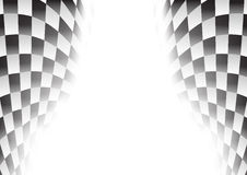 Checkered race flag waveing  Royalty Free Stock Photo