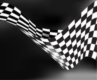 Checkered race flag waveing vector background layout design Royalty Free Stock Photos