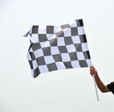 Checkered racing flag Stock Photo