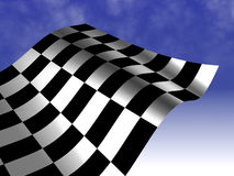 Checkered racing flag Stock Image