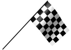 Checkered racing flag. On white Royalty Free Stock Images