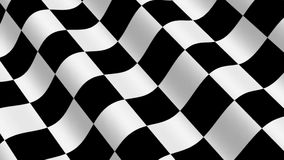 Checkered Racing Flag stock video footage