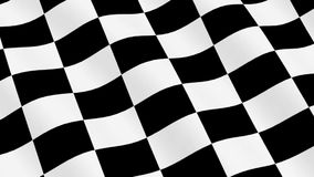Checkered Racing Flag stock footage