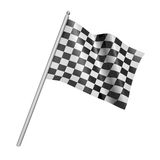 Checkered racing flag. 3d illustration. Checkered racing flag - 3d illustration, clipping path included Royalty Free Stock Images