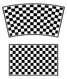 Checkered racing flag elements isolated on white. Stock Photography