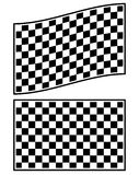 Checkered racing flag elements isolated on white. Stock Image