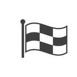Checkered racing flag icon , solid logo illustration, pict Stock Photos