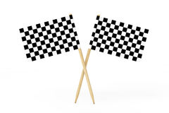 Checkered Racing Flags. 3d Rendering Stock Images