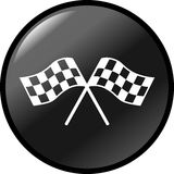 Checkered racing flags vector button Royalty Free Stock Image