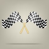 Checkered Racing Flags. Vector illustration. Stock Photography