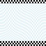 Checkered racing theme background. Racing theme checkered background with 2 row checkered top line and 3 row checkered bottom line Stock Photography