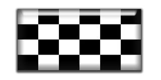Checkered rectangle icon Royalty Free Stock Images