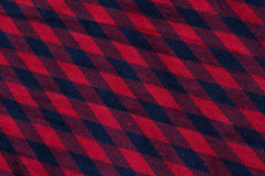 Checkered red and blue cloth texture Royalty Free Stock Photos