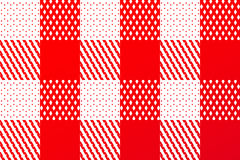 Checkered Red Detail Royalty Free Stock Images