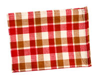Checkered red napkin isolated Royalty Free Stock Image