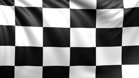 Checkered Rennenmarkierungsfahne Nahtloser geschlungener Videohintergrund, Gesamtlänge vektor abbildung