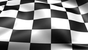 Checkered Rennenmarkierungsfahne Nahtloser geschlungener Videohintergrund, Gesamtlänge lizenzfreie abbildung