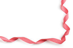 Checkered ribbon Stock Photo