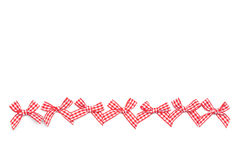 Checkered Ribbon Ties Royalty Free Stock Photo