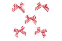 Checkered Ribbon Ties Royalty Free Stock Photography