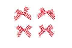 Checkered Ribbon Ties Royalty Free Stock Photos