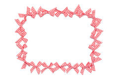 Checkered Ribbon Ties Frame Royalty Free Stock Photo