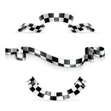Checkered ribbons. Computer illustration on a white background Royalty Free Stock Image