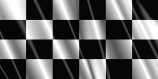 Checkered satin flag Royalty Free Stock Images